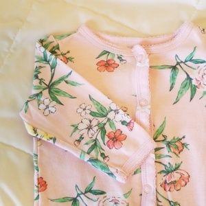Carter's Pink Floral Onesie